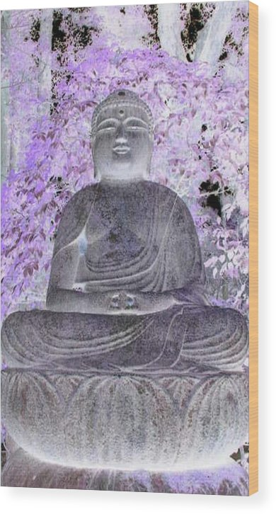 Surreal Wood Print featuring the photograph Surreal Buddha by Curtis Schauer