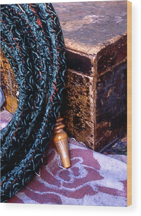 Still Life Wood Print featuring the photograph Smoking Pipe by Michael Fenton