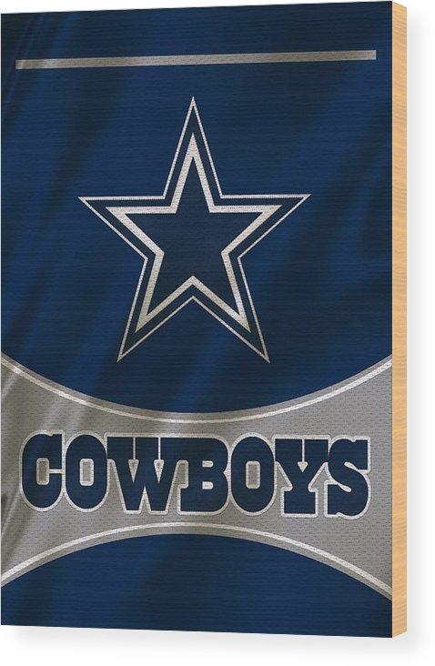 Cowboys Wood Print featuring the photograph Dallas Cowboys Uniform by Joe Hamilton
