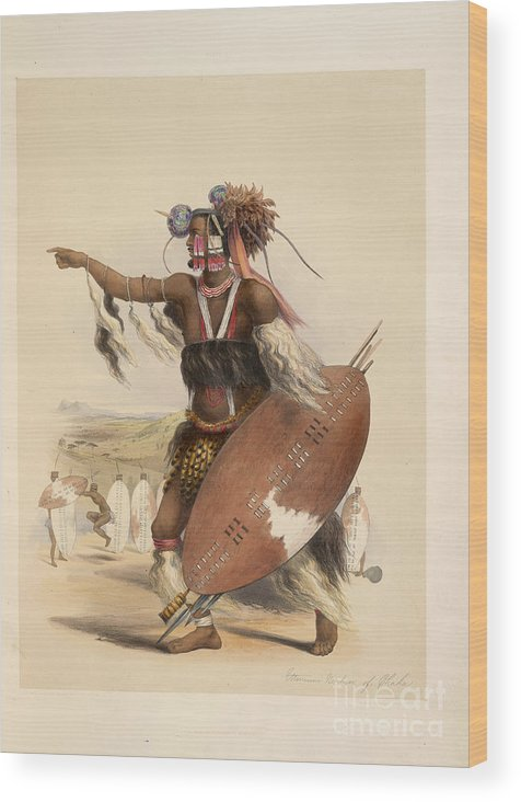 Armour Wood Print featuring the photograph A Zulu by British Library