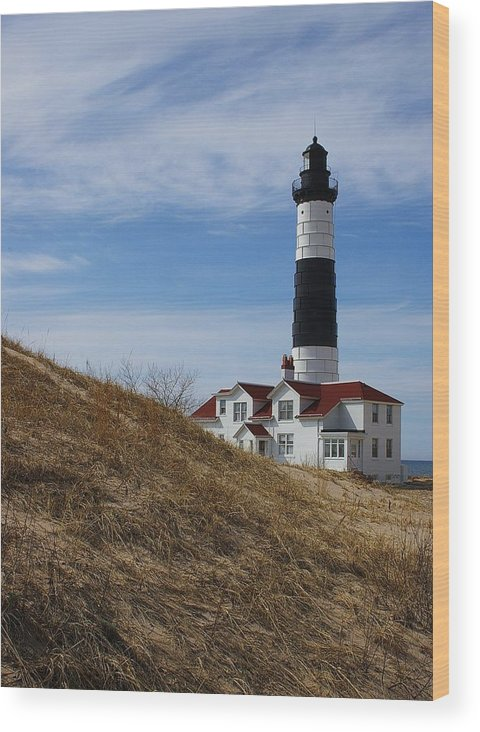 Lighthouse Wood Print featuring the photograph Big Sable by Randy Pollard