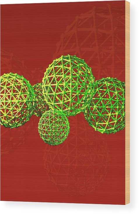 Artwork Wood Print featuring the photograph Buckyball Molecules by Victor Habbick Visions