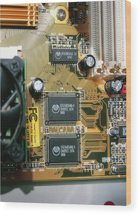 Machine Wood Print featuring the photograph Circuit Board by Andrew Lambert Photography
