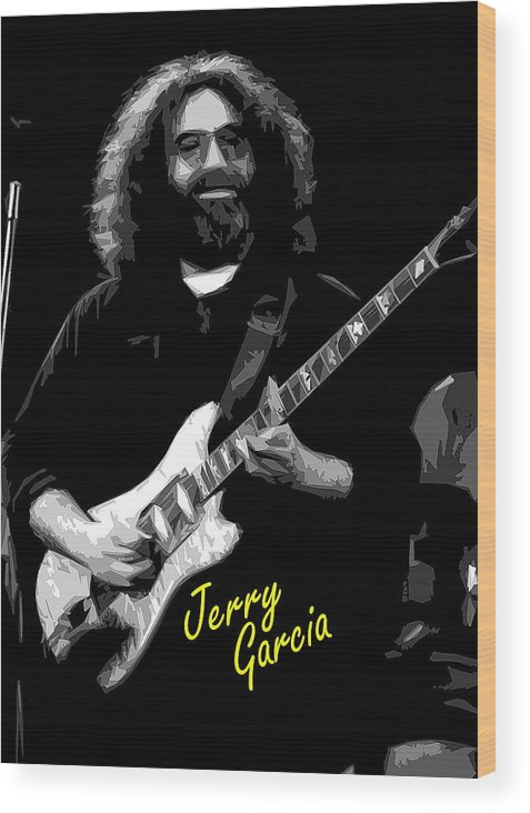 Jerry Garcia Wood Print featuring the photograph Crazy Fingers 2 by Ben Upham