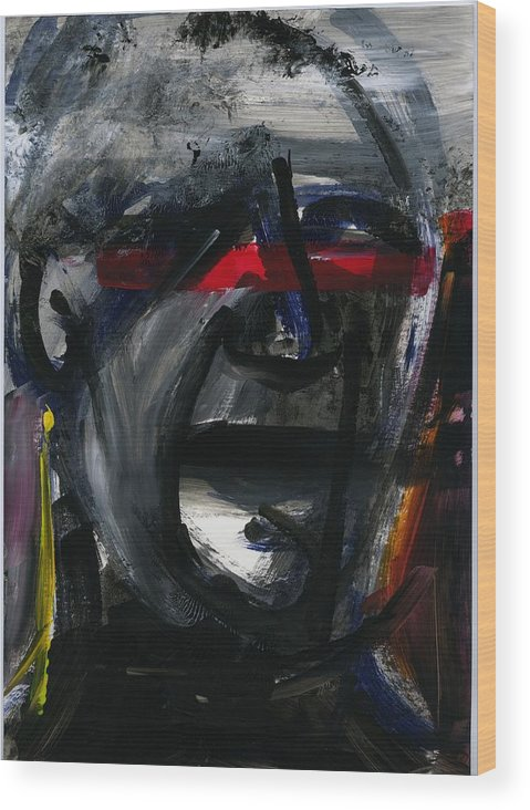 Acrylic Wood Print featuring the painting Face Xiv by Luka Matijas