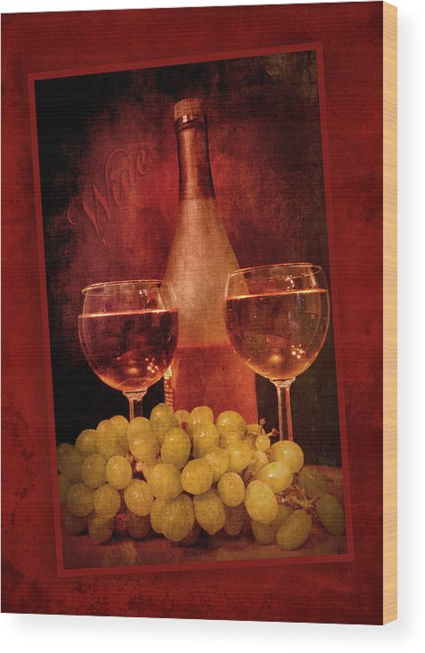 Fine Wood Print featuring the photograph Fine Wine by Cindy Haggerty