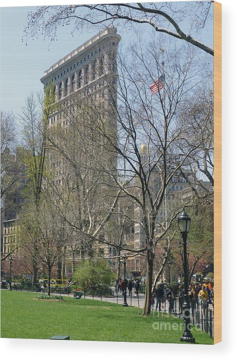 Flatiron Building Wood Print featuring the photograph Flatiron Building-3 by Steven Spak