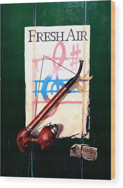 Still Life Wood Print featuring the painting Fresh Air by Jim Gola