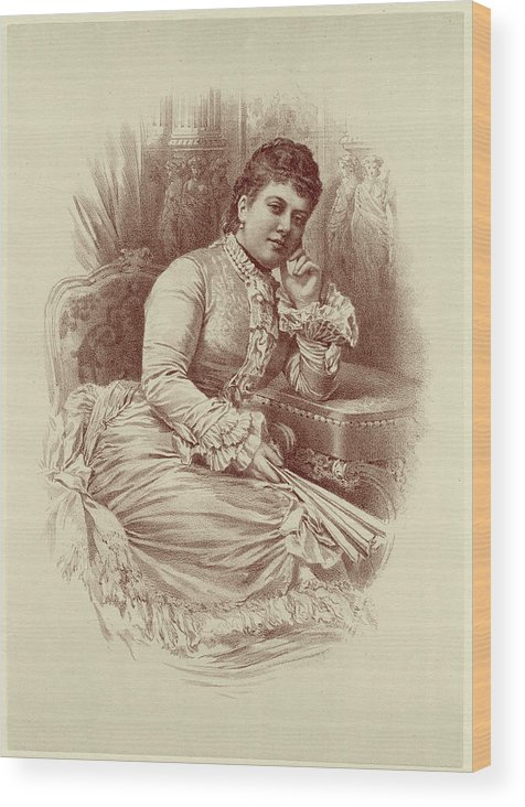 Helena Wood Print featuring the drawing Helena, Schleswig-holstein Daughter by Mary Evans Picture Library