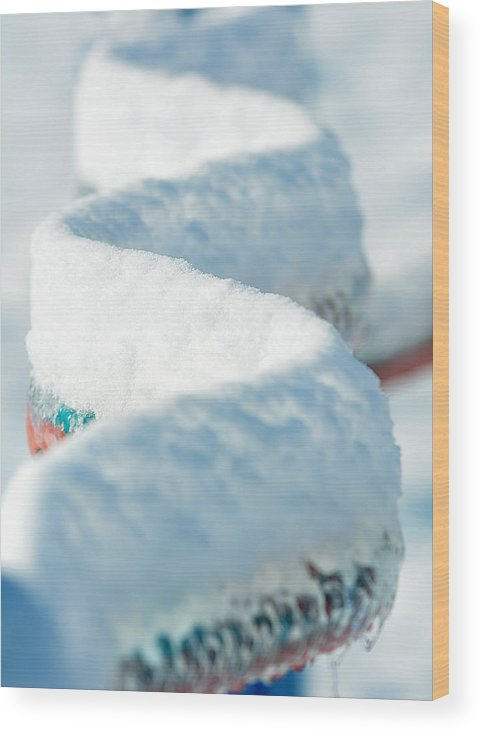 Ice Wood Print featuring the photograph Ice And Snow-5508 by Steve Somerville
