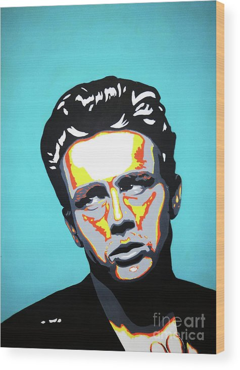 James Wood Print featuring the painting James Dean by Grant Swinney