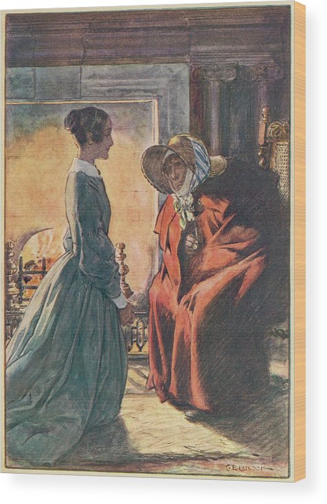 Jane Wood Print featuring the drawing Jane And The Gipsy by Mary Evans Picture Library