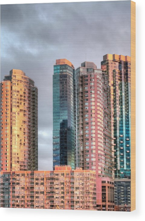 Jersey City Color Wood Print featuring the photograph Jersey City Color by JC Findley