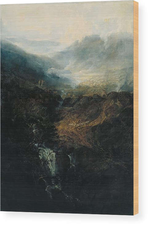1798 Wood Print featuring the painting Morning Amongst The Coniston Fells by JMW Turner