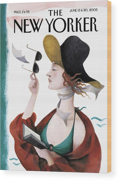 Eustace Tilley Wood Print featuring the painting Debut On The Beach by Ana Juan