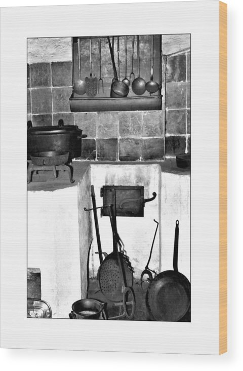 Cast Iron Pans Wood Print featuring the photograph Old Cast Iron Cooking by Michael Faryma