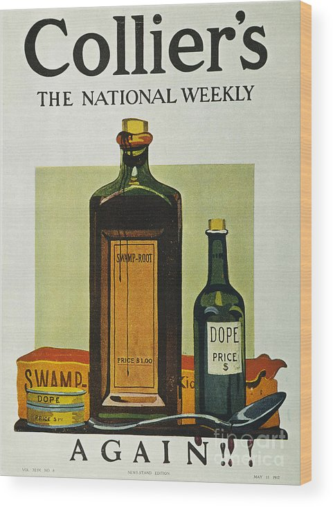 1912 Wood Print featuring the photograph Pure Food Act, 1912 by Granger