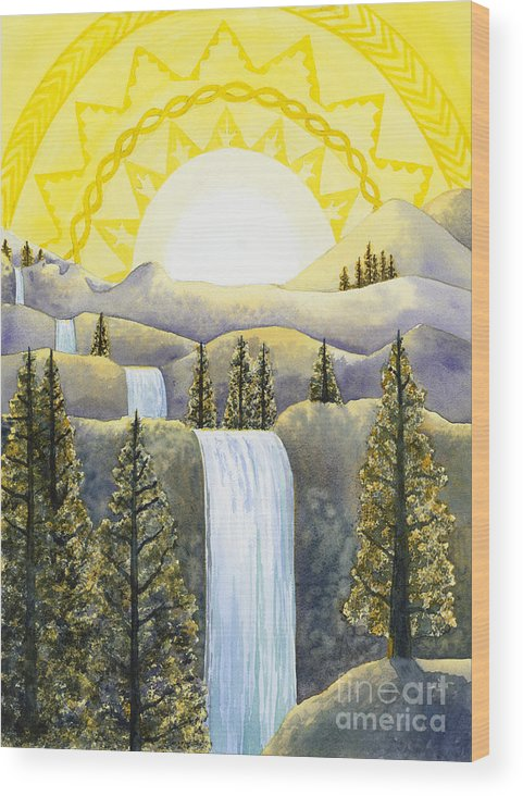 Power Wood Print featuring the painting Solar Plexus Chakra by Catherine G McElroy