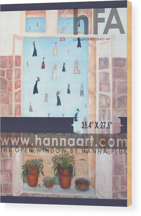 Urban Wood Print featuring the painting The Window by Hanna Fluk