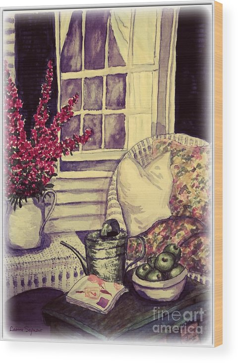 Verandah Wood Print featuring the painting Time To Relax by Leanne Seymour