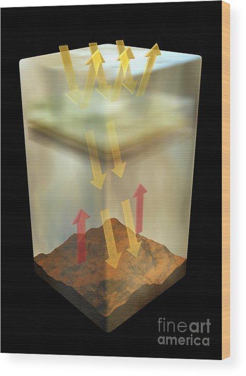 Artwork Wood Print featuring the photograph Venus's Atmosphere, Artwork by Carlos Clarivan