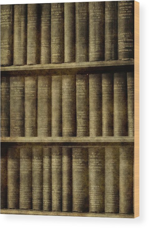 Vintage Books Wood Print featuring the photograph Vintage Books by Dan Sproul