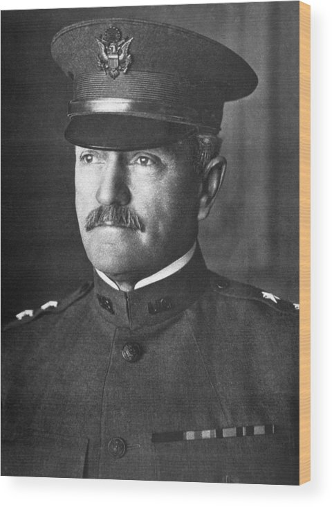 General Wood Print featuring the photograph General John J. Pershing 1860-1948 by Everett