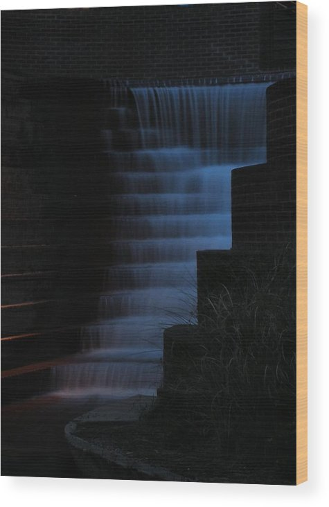 Greenville Wood Print featuring the photograph Peace Center Nights 3 by Craig Johnson