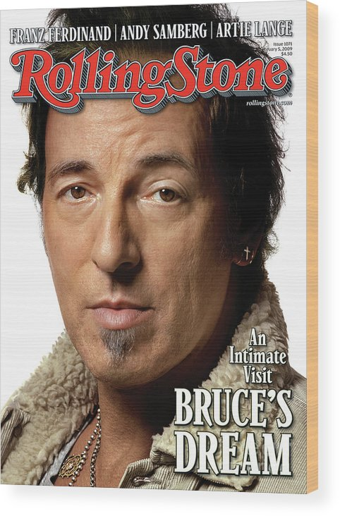 Bruce Springsteen Wood Print featuring the photograph Rolling Stone Cover - Volume #1071 - 2/5/2009 - Bruce Springsteen by Albert Watson