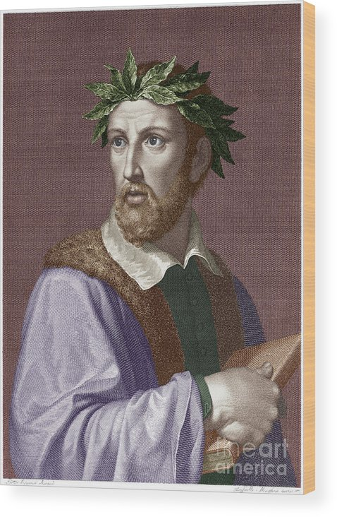 16th Century Wood Print featuring the photograph Torquato Tasso (1544-1595) by Granger
