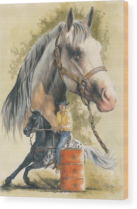 Horse Wood Print featuring the mixed media Appaloosa by Barbara Keith