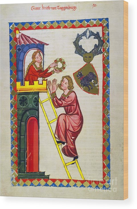 14th Century Wood Print featuring the photograph Heidelberg Lieder, C.14th by Granger