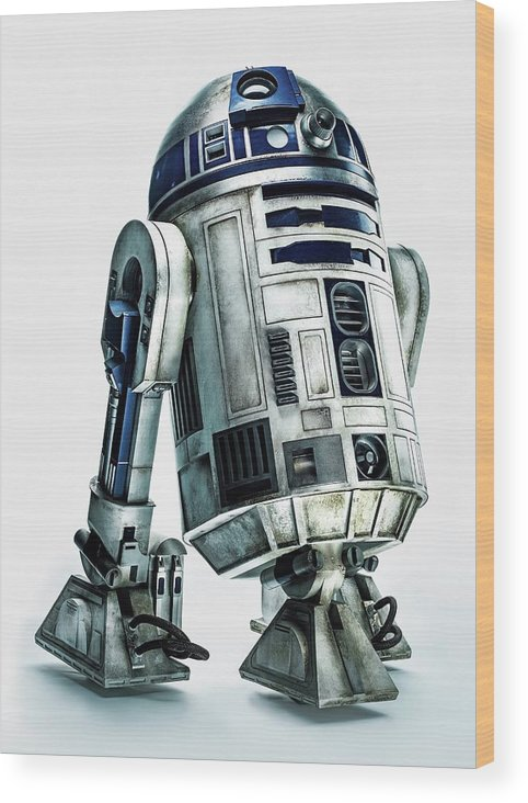 Star Wars Wood Print featuring the digital art Star Wars Episode Vii - The Force Awakens 2015 by Geek N Rock