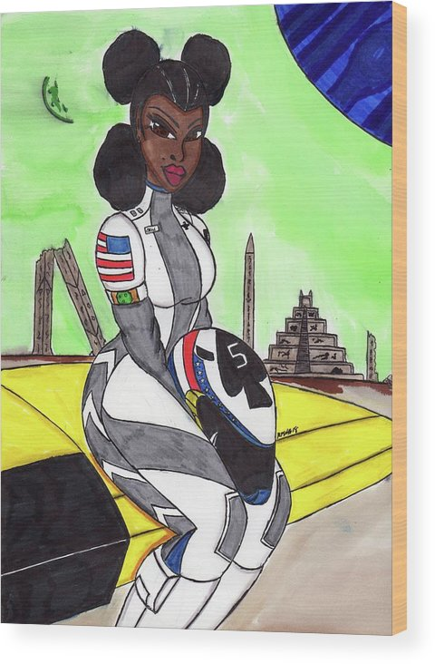 Original Character Wood Print featuring the mixed media A Photo For The Ages by Ronald Woods
