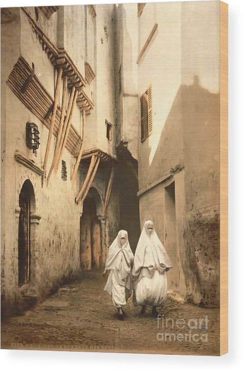 1899 Wood Print featuring the photograph Algeria: Street Scene, C1899 by Granger