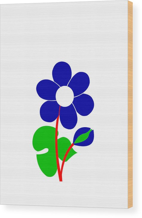 Anemone Wood Print featuring the digital art Anemone by Asbjorn Lonvig