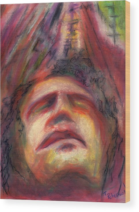 Crayon Wood Print featuring the painting Ascension by Todd Peterson