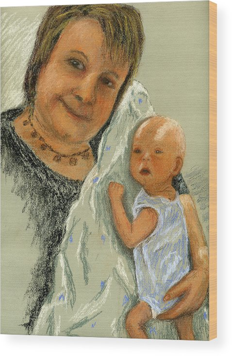 Grandmother Wood Print featuring the painting Barb And Jacob by Marina Garrison