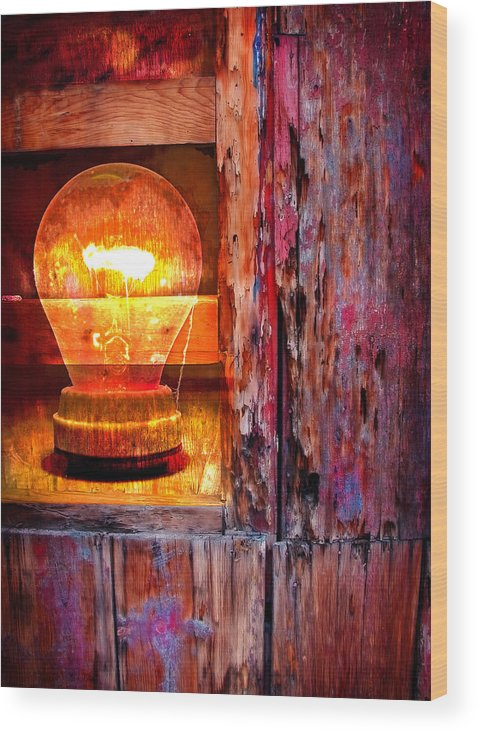 Skip Wood Print featuring the photograph Bright Idea by Skip Hunt