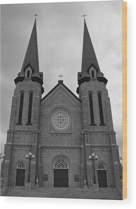 Cahedral Wood Print featuring the photograph Church by Lisa Hebert