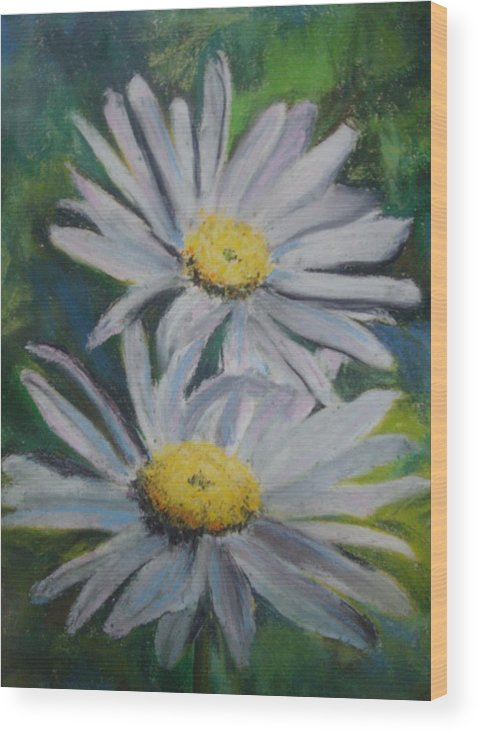 Daisies Wood Print featuring the painting Daisies by Melinda Etzold