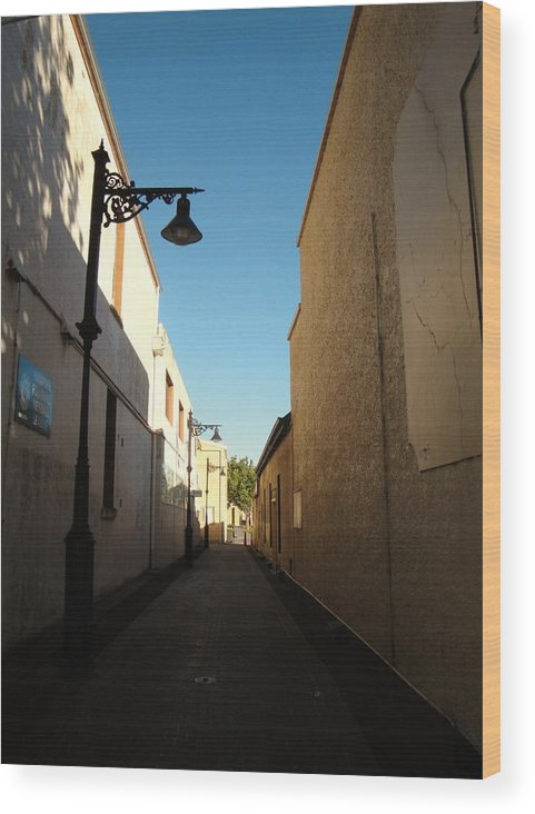 Street Wood Print featuring the photograph Day's End by Carrie Auwaerter