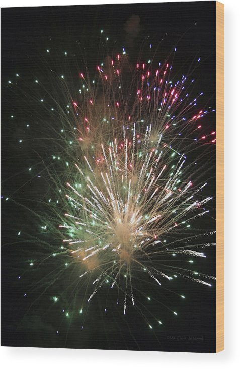 Fireworks Wood Print featuring the photograph Fireworks by Margie Wildblood