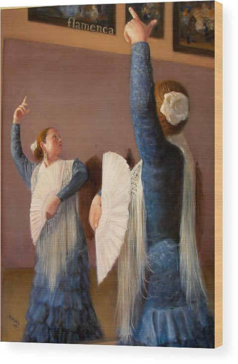 Realism Wood Print featuring the painting Flamenco 6 by Donelli DiMaria
