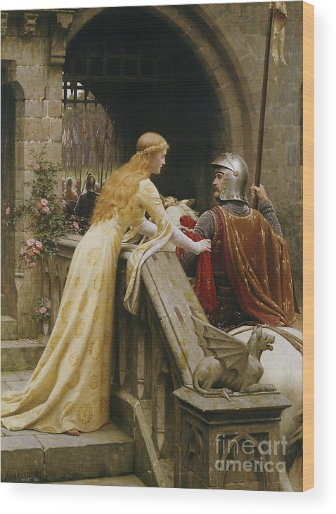 God Speed Wood Print featuring the painting God Speed by Edmund Blair Leighton