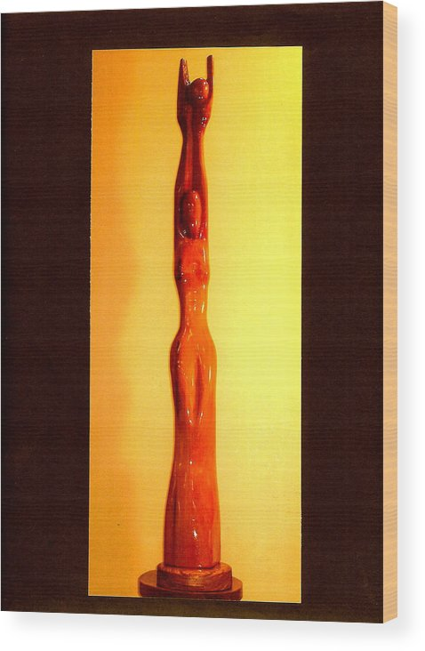 Moon Wood Print featuring the photograph Golden Moon Goddess by Eric Singleton