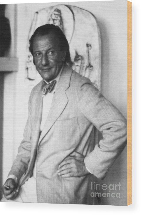 20th Century Wood Print featuring the photograph Hans Hofmann (1880-1966) by Granger
