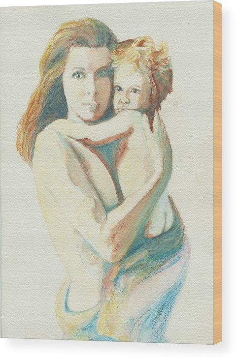 Female Wood Print featuring the painting Have No Fear by Janice Gell