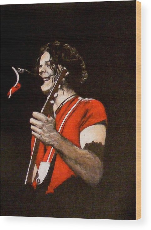 Jack White Wood Print featuring the painting Jack White by Luke Morrison