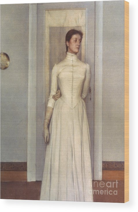 1887 Wood Print featuring the photograph Khnopff: Sister, 1887 by Granger